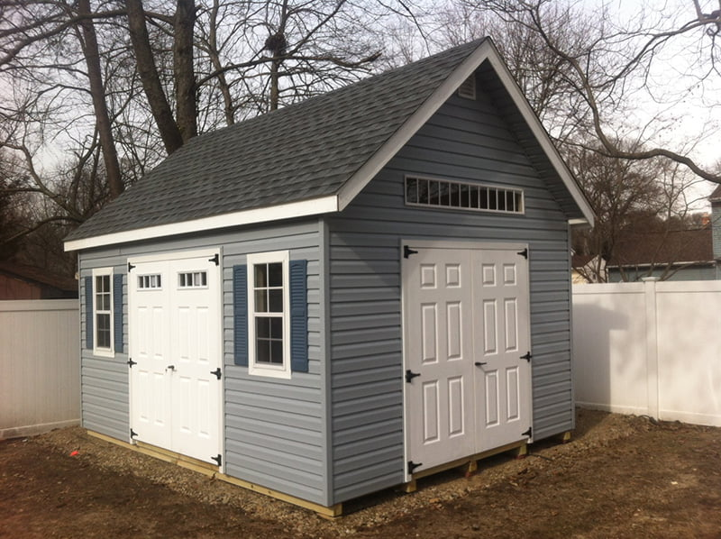 custom storage shed building by PineTree Woodworks 15