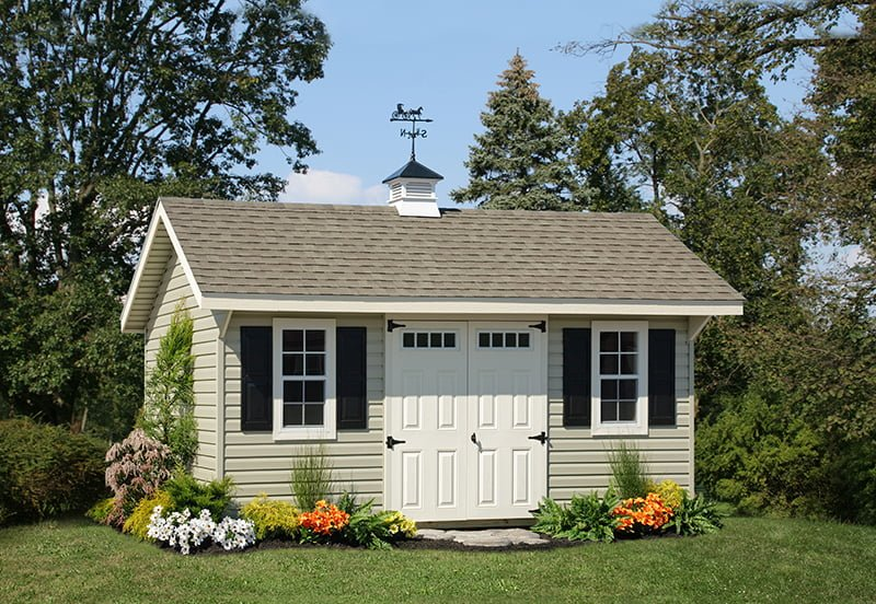 custom storage shed building by PineTree Woodworks 16