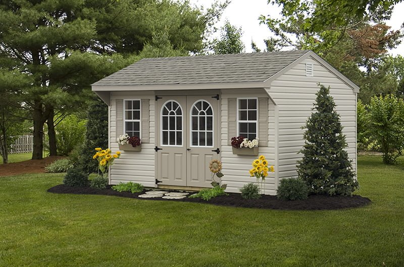 custom storage shed building by PineTree Woodworks 17