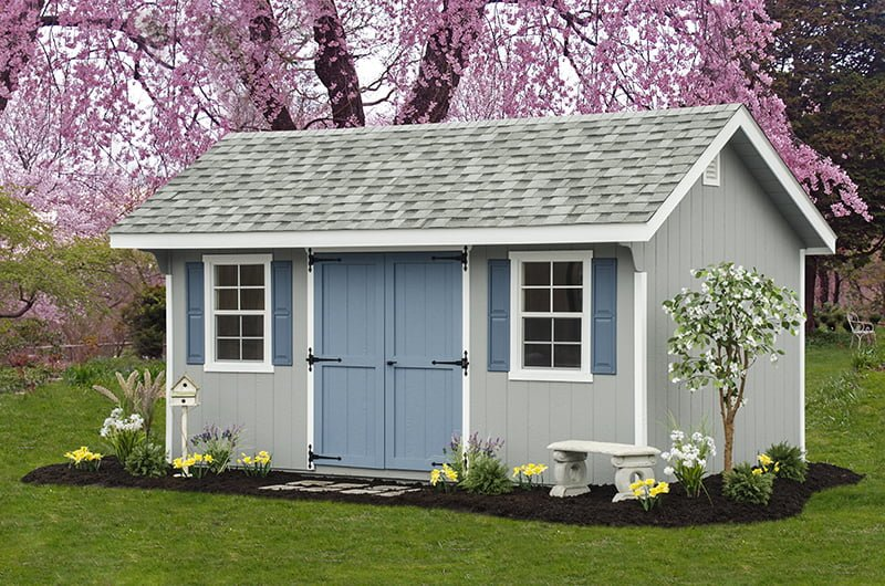 custom storage shed building by PineTree Woodworks 18
